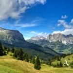 View of the mount alta badia - Italy...