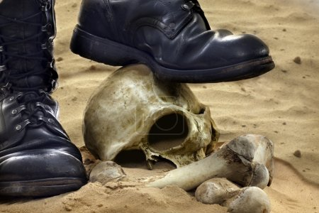 Photo for Abstract of war with skull - Royalty Free Image