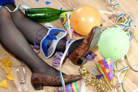 Photo for Party was cool and drunk woman - Royalty Free Image