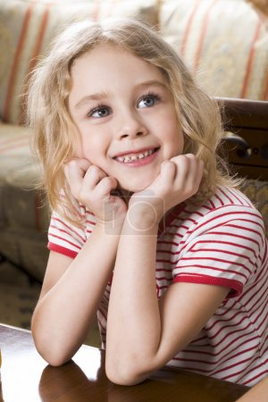 Photo for Portrait of cute girl looking at camera - Royalty Free Image