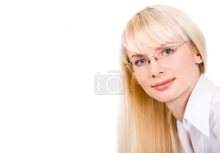 Photo for Portrait of confident woman looking at camera through glasses - Royalty Free Image