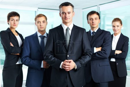 Photo for Group portrait of a professional business team looking confidently at camera - Royalty Free Image