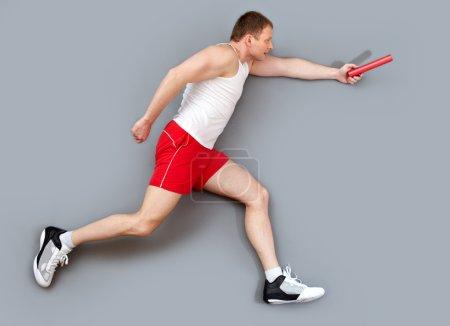 Relay race participant