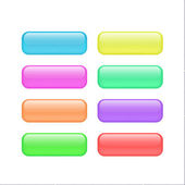 Color rounded rectangle buttons Vector