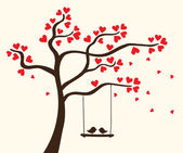 Beautiful romantic tree Vector illustration