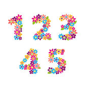Beautiful floral numbers Part 1