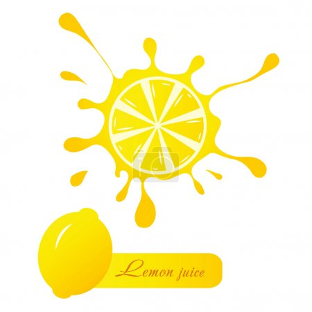 Illustration for Lemon juice - Royalty Free Image
